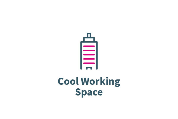 Cool working space icon