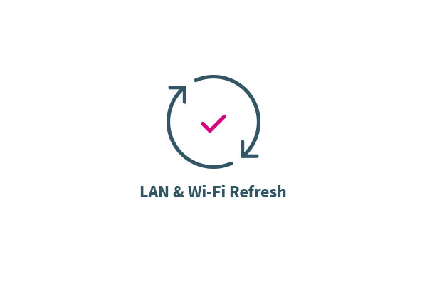 LAN and Wi-Fi refresh icon